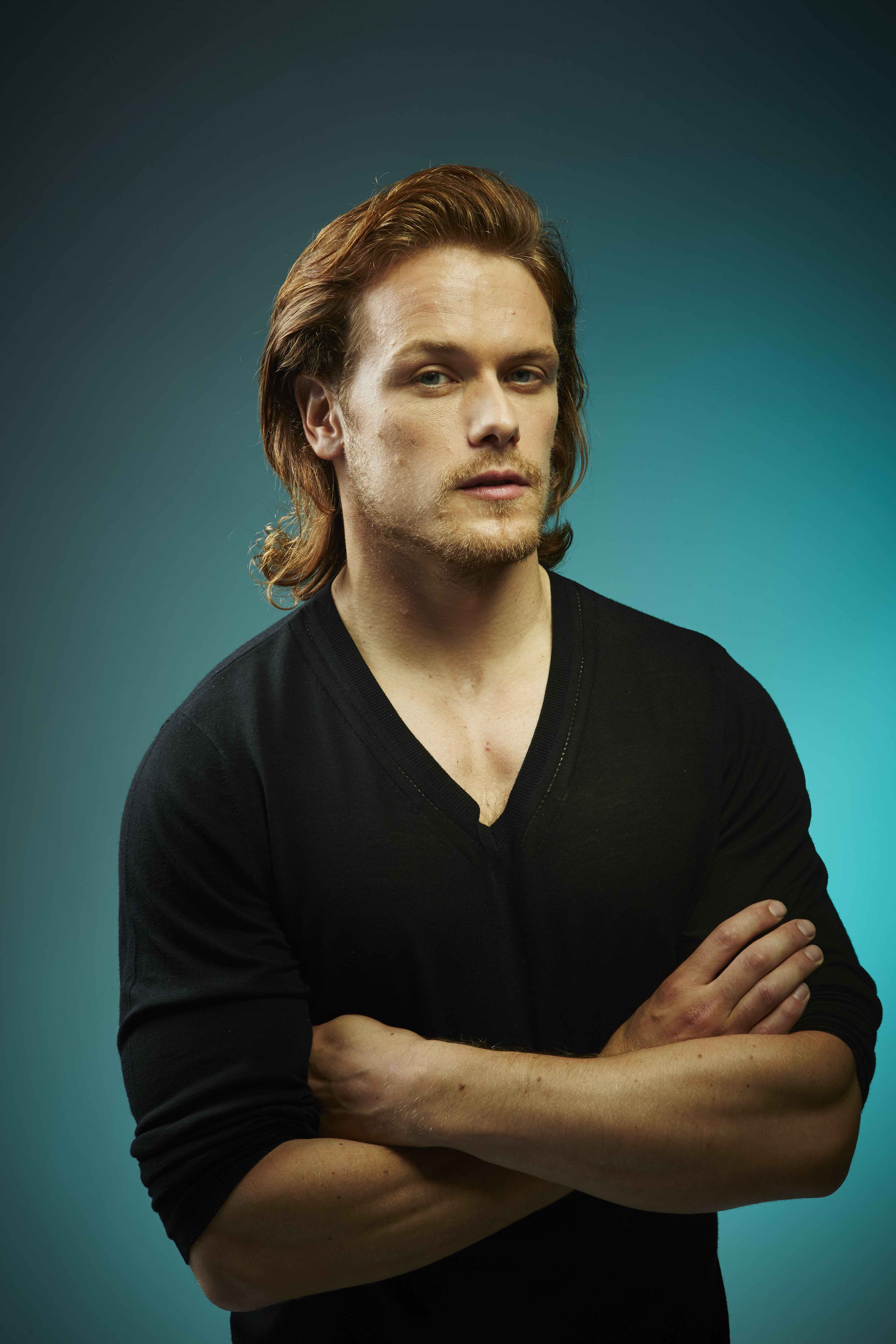 More Hq Comic Con Portraits Of Sam Heughan Caitriona