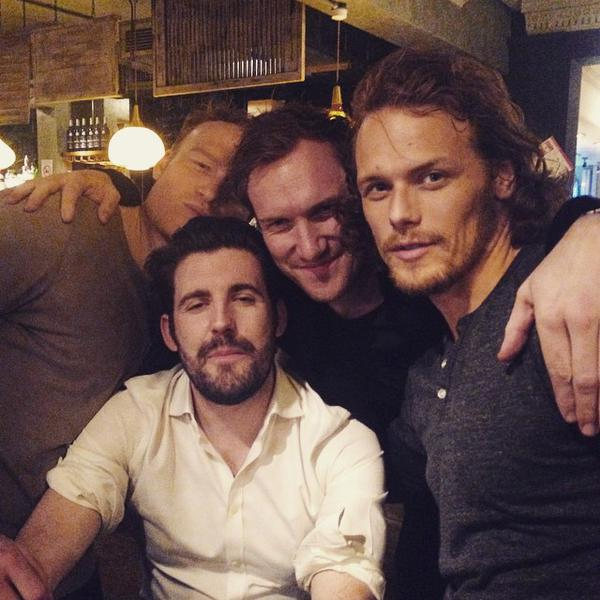 Photo of Sam Heughan & his friend   -