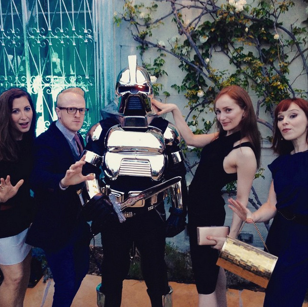 The future is nigh! @ruthie_connell @lotteverbeek1 @PhilipsonAmanda #redcarpet #BritWeek #Gingers