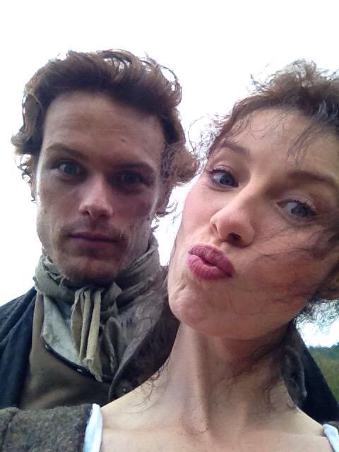 @PerfettMenteJap @SamHeughan @Serialmenteseri From our first photo shoot... Working on our Blue Steels 📷📷📷