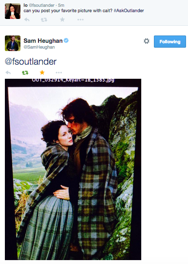 Twitter Q&A with Sam Heughan | Outlander Online - Linkis com