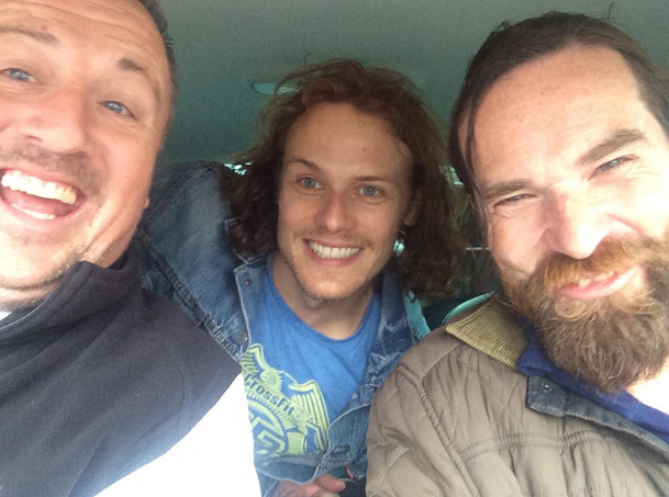 New Pic of Sam Heughan and Duncan Lacroix | Outlander Online
