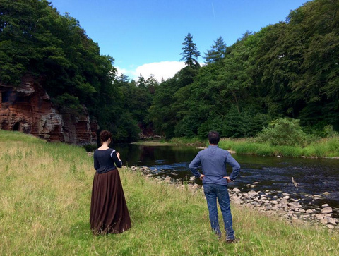 Don't know who these people are but they wouldn't get out of this shot. @TheMattBRoberts @caitrionambalfe #outlander