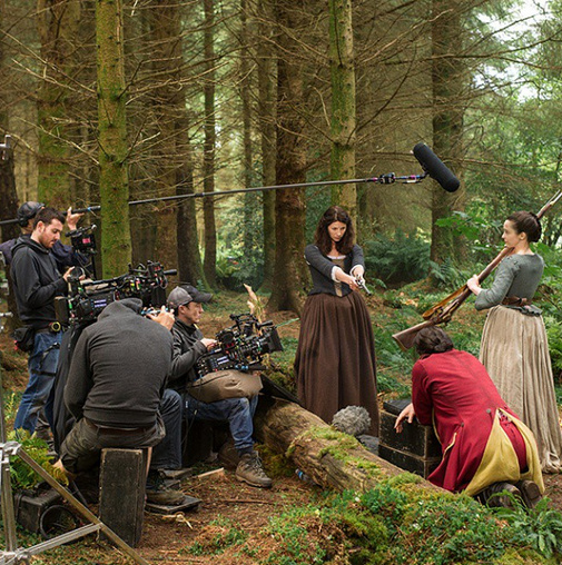 outlander_starzYou're surrounded, soldier. There's no escaping Claire, Jenny and the #Outlander crew. @caitrionabalfe #BehindTheScenes