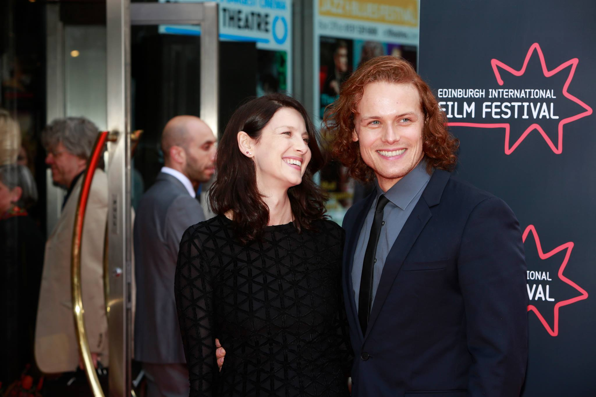 HQ Pics of Sam Heughan and Caitriona Balfe at the ...