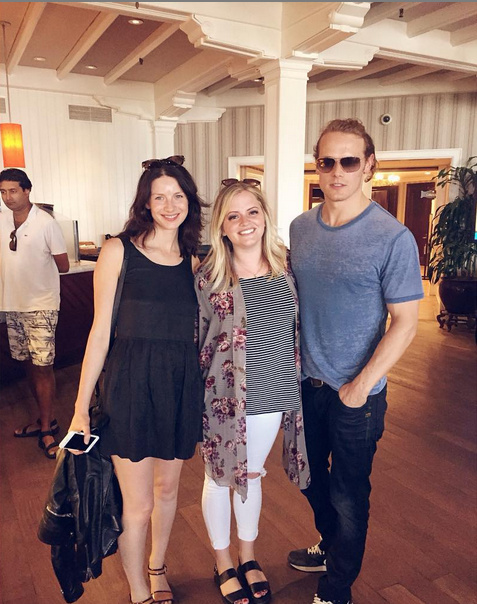 New Pics of Caitriona Balfe and Sam Heughan in San Diego ...
