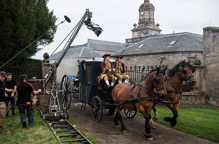 All the king's horses and all the king's men on set. #BehindTheScenes #Outlander