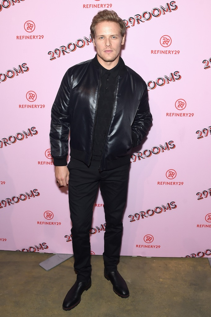NEW HQ Pics of Sam Heughan and Mackenzie Mauzy at 29Rooms
