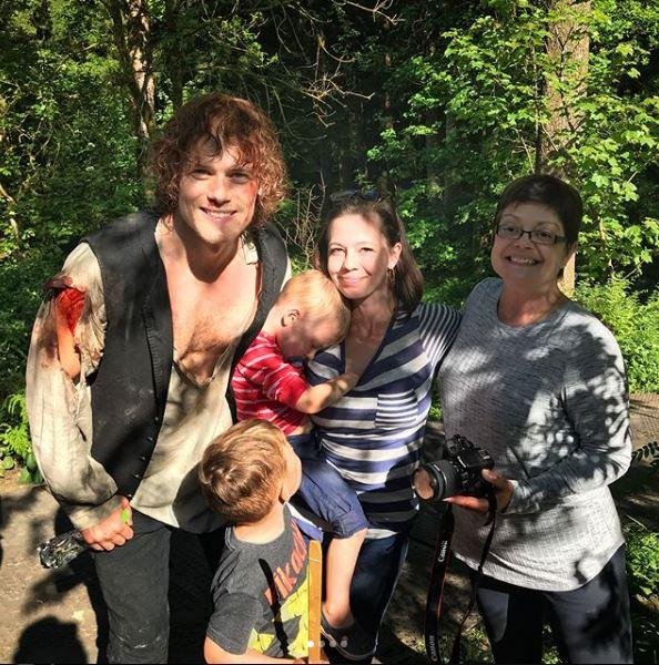 Sam Heughan on the Set of Outlander Season 4 – 2