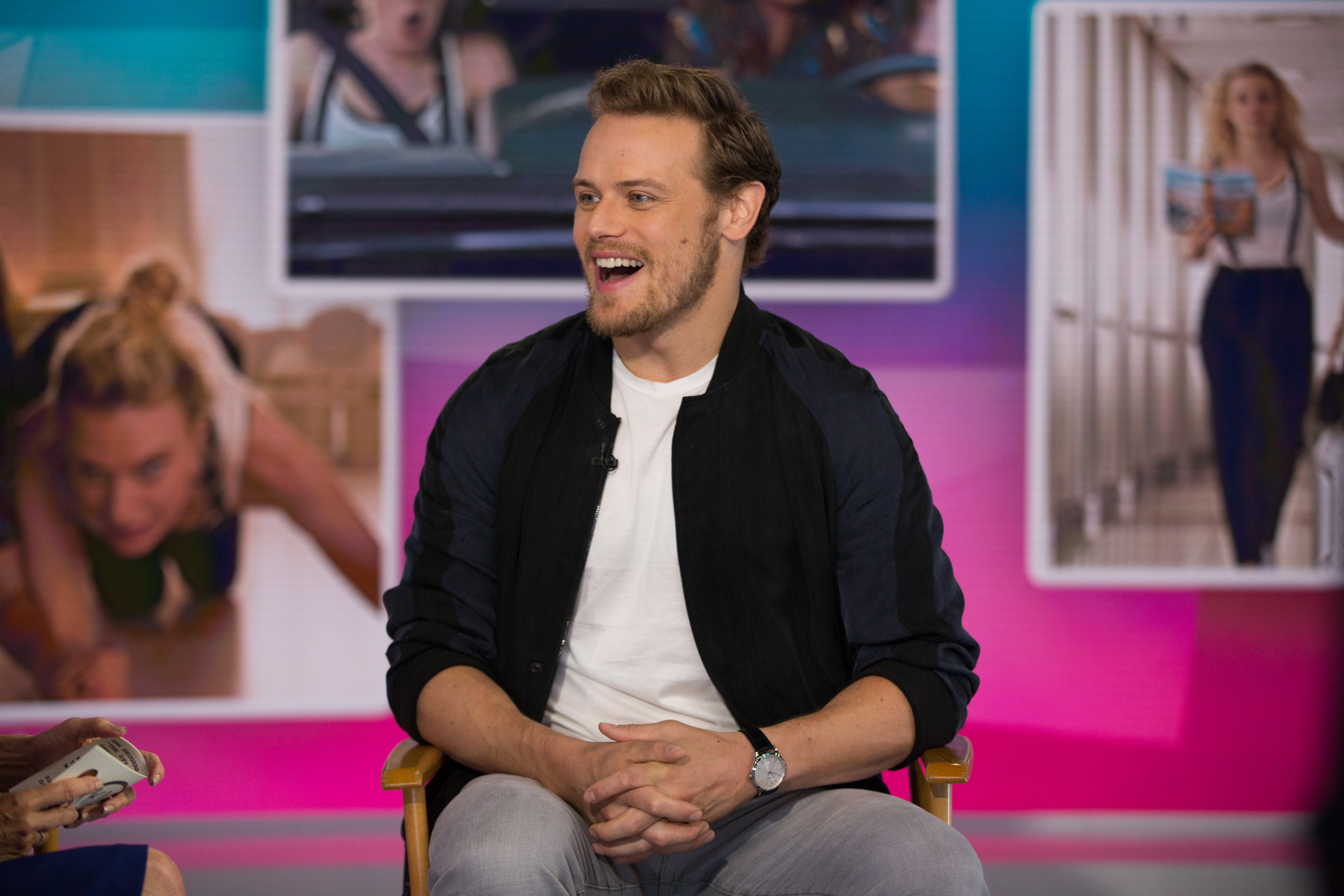 New* HQ Pics of Sam Heughan on Today With Kathy Lee & Hoda – July