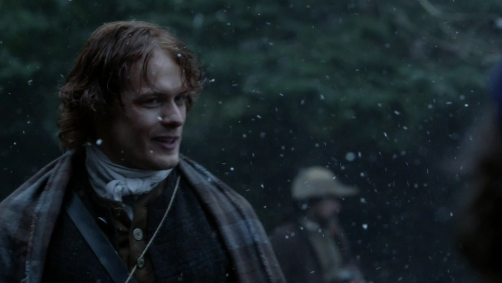 Sam Heughan as Jamie Fraser in Outlander Season 1 1×09