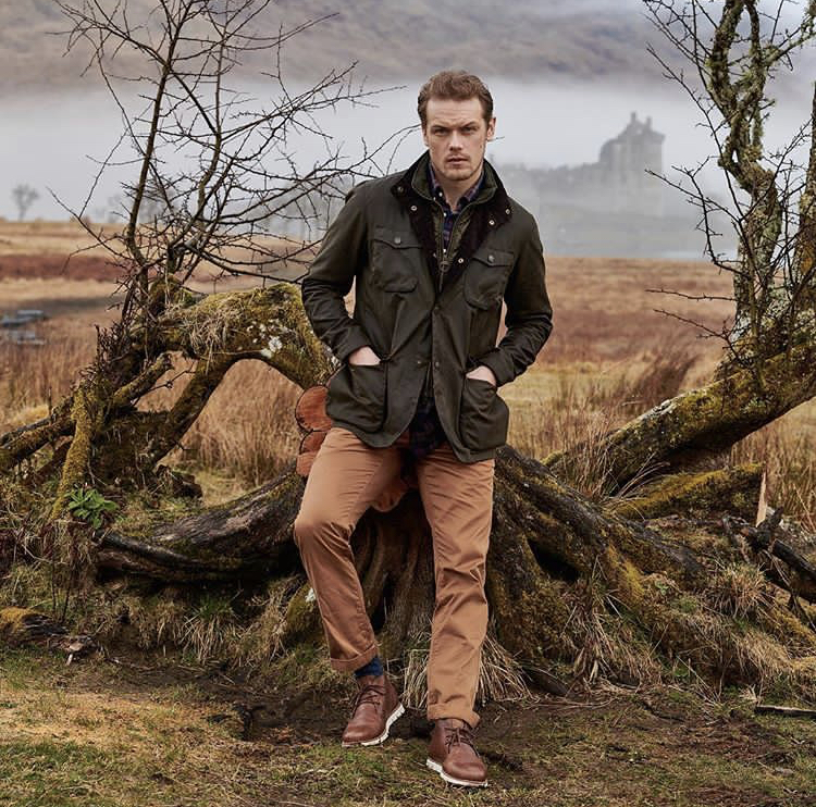 pretty cool hot product buy popular New Pic of Sam Heughan for Barbour | Outlander Online