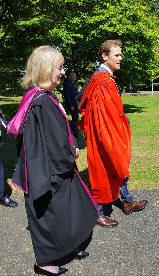 NEW Pics and Video of Sam Heughan at The University of